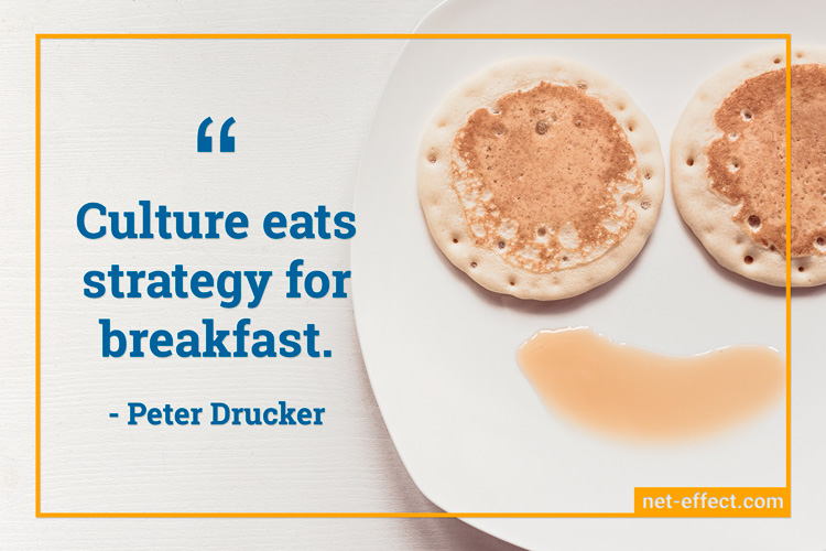 Culture quote Peter Drucker NetEffect